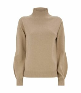 High-Neck Lurex Sweater
