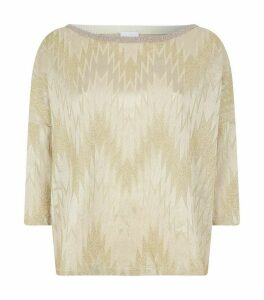 Lurex Zigzag Sweater