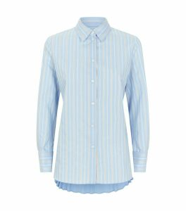 Pleated Back Stripe Shirt
