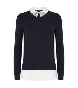 Liaylo Sparkle Collared Top