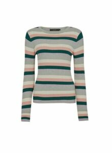 Womens **Vero Moda Multi Coloured Knit Jumper- Ochre, Ochre
