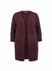 Womens **Dp Curve Burgundy Cardigan- Red, Red