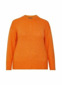 Womens Dp Curve Orange Step Hem Jumper, Orange