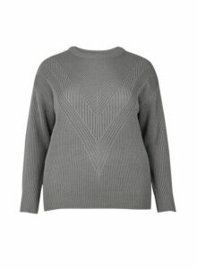 Womens **Dp Curve Grey Stitch Jumper, Grey