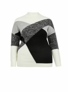 Womens **Dp Curve Monochrome Jumper- Ivory, Ivory