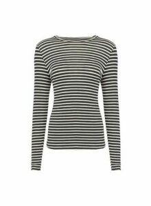 Womens Vero Moda Black Striped Long Sleeve T-Shirt, Black