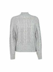 Womens **Vero Moda Grey Knit Jumper, Grey