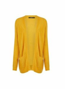 Womens **Vero Moda Yellow Wrap Cardigan- Ochre, Ochre