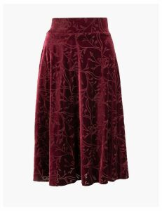 M&S Collection Jersey Floral Skirt