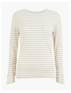 Per Una Lurex Striped Long Sleeve T-Shirt