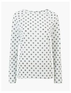 M&S Collection Printed Long Sleeve Top