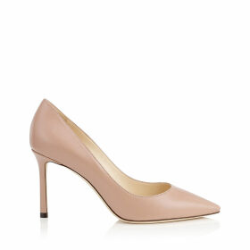 ROMY 85 Ballet Pink Kid Leather Pointy Toe Pumps