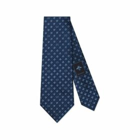 GG and shamrocks silk tie