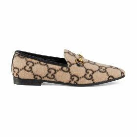 Women's Gucci Jordaan GG wool loafer