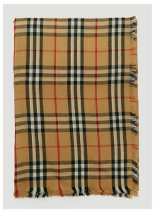 Burberry Vintage Check Lightweight Cashmere Scarf in Beige size One Size