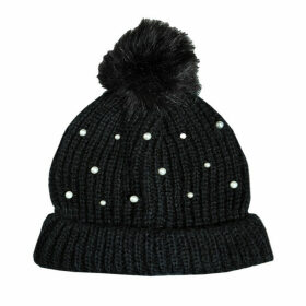 Vero Moda Womens Sara Beanie Hat Size One Size in Black