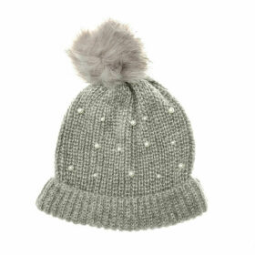 Vero Moda Womens Sara Beanie Hat Size One Size in Grey