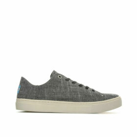Toms Womens Lenox Textured Chambray Sneakers Size 3 in Black