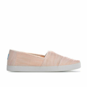 Toms Womens Avalon Slubby Cotton Slip-On Pumps Size 5 in Pink