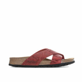 Papillio Womens Daytona Leather Sandals Narrow Width Size 4.5 in Red