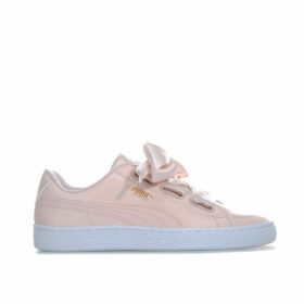 Puma Womens Basket Heart Patent Trainers Size 4 in Pink