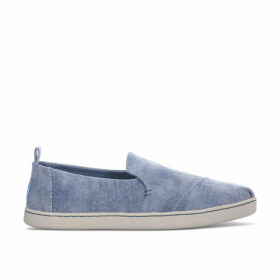 Toms Womens Washed Twill Deconstructed Pumps Size 7 in Blue