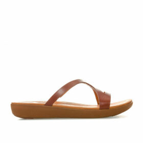 Womens Strata Leather Slide Sandals