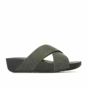 Womens Lulu Cross Slide Sandals