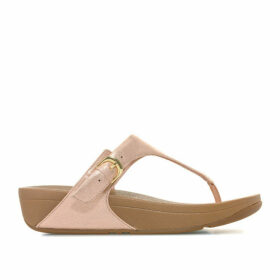Fit Flop Womens Skinny Glimmersuede Toe Thong Sandals Size 3 in Pink