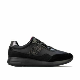 Geox Womens Ophira Trainers Size 7.5 in Black
