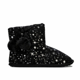 Rocket Dog Womens Snowflake Celeste Bootie Slippers Size 7 in Black