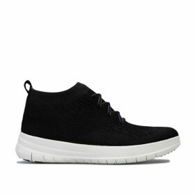 Fit Flop Womens Uberknit Slip On High Top Trainers Size 4 in Black