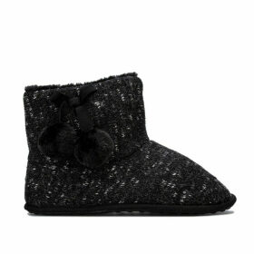 Rocket Dog Womens Snowflake Finland Bootie Slippers Size 8 in Black
