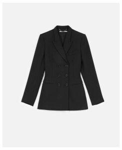 Stella McCartney Black Brushed Twill Tailored Jacket, Women's, Size 14