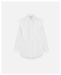 Stella McCartney White Cotton Poplin Shirt, Women's, Size 4