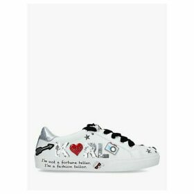 KARL LAGERFELD Skool Lace Up Leather Trainers, White