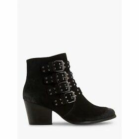 Bertie Paramont Block Heel Ankle Boots, Black