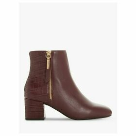 Dune Orlla Leather Side Zip Ankle Boots