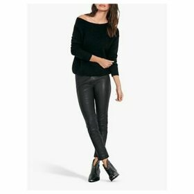 hush Jade Off the Shoulder Jumper, Black