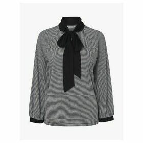 L.K.Bennett Cameron Striped Jersey Top, Back/White