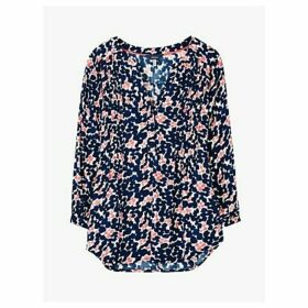 Joules Rosamund Floral Print Blouse, Inky Lilypads