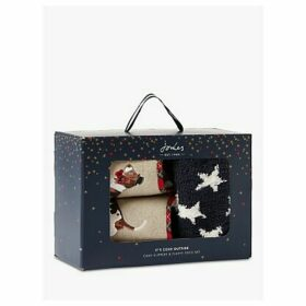 Joules Dog Slippers & Cosy Socks Gift Set, Multi
