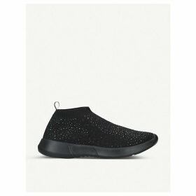 Cambrie embellished sock trainers