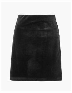 M&S Collection Velvet A-Line Mini Skirt