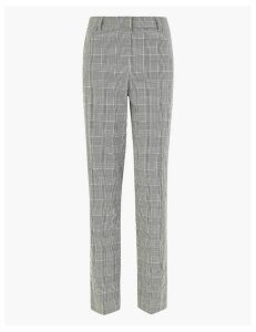 M&S Collection Checked Ankle Grazer Trousers
