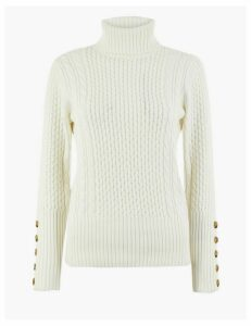 Per Una Cable Roll Neck Jumper