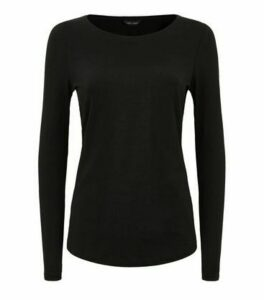 Black Organic Cotton Long Sleeve T-Shirt New Look