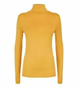 Mustard Roll Neck Long Sleeve Top New Look