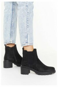 Womens Ankle-Ing For Something Faux Suede Boots - Black - 8, Black