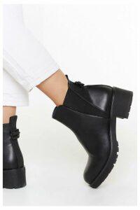 Womens V Gusset Cleated Chelsea Boot - Black - 7, Black